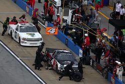 Erik Jones, Kyle Busch Motorsports Toyota and Korbin Forrister