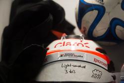 The helmet of Nico Hulkenberg, Sahara Force India F2