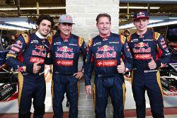 Carlos Sainz Jr., Scuderia Toro Rosso avec son père Carlos Sainz, Jos Verstappen avec son fils Max Verstappen, Scuderia Toro Rosso