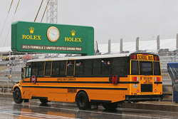 A School Bus in the pits