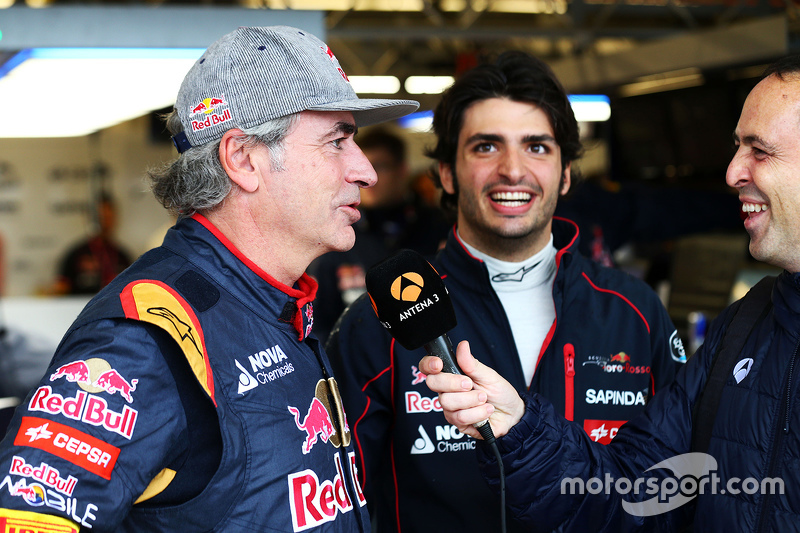 Carlos Sainz, with his son Carlos Sainz Jr., Scuderia Toro Rosso