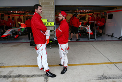 (L to R): Alexander Rossi, Manor Marussia F1 Team with team mate Will Stevens, Manor Marussia F1 Tea