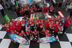 Winners James Courtney and Jack Perkins, Holden Racing Team with Pirtek Endure Cup winners Garth Tan