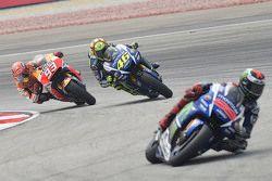 Jorge Lorenzo, Yamaha Factory Racing, Valentino Rossi, Yamaha Factory Racing and Marc Marquez, Repsol Honda Team