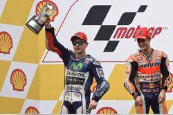 1. Dani Pedrosa, Repsol Honda Team; 2. Jorge Lorenzo, Yamaha Factory Racing