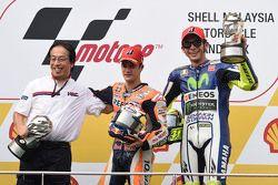 1. Dani Pedrosa, Repsol Honda Team; 3. Valentino Rossi, Yamaha Factory Racing