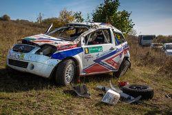 Автомобиль Дмитрия Богоявленского и Светланы Шумских после аварии