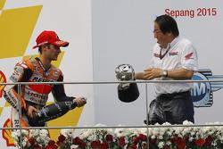 Podio: ganador Dani Pedrosa, Repsol Honda Team