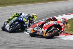 Марк Маркес, Repsol Honda Team и Валентино Росси, Yamaha Factory Racing