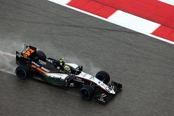 Sergio Perez, Sahara Force India F1 VJM08 lors des qualifications