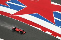 Sebastian Vettel, Ferrari SF15-T lors des qualifications