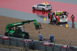 Carlos Sainz Jr., Scuderia Toro Rosso STR10 se crashe en qualifications