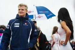 Marcus Ericsson, Sauber F1 Team lors de la parade des pilotes