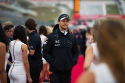 Jenson Button, McLaren op de rijdersparade