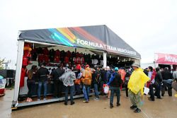 Formula One merchandise stand