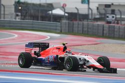 Alexander Rossi, Manor Marussia F1 Team with damage at the start of the race