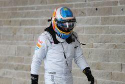 Fernando Alonso, McLaren en parc ferme