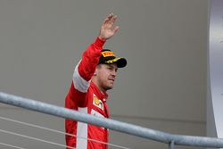 Podium : Le troisième Sebastian Vettel, Scuderia Ferrari