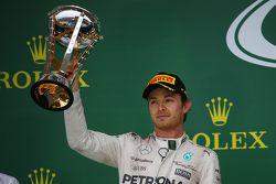 Podium : Le deuxième Nico Rosberg, Mercedes AMG F1 Team