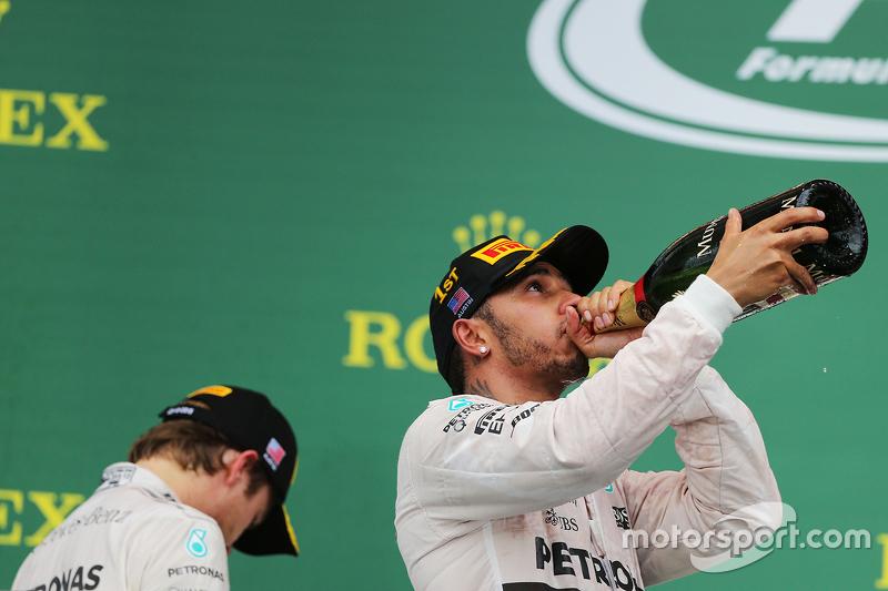 Nico Rosberg y Lewis Hamilton en el GP de Estados Unidos 2015