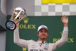 Podium: 2. Nico Rosberg, Mercedes AMG F1 Team