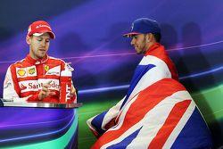 Sebastian Vettel, Ferrari ve Lewis Hamilton, Mercedes AMG F1 FIA Basın Konferansında