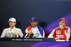 Yarış sonrası FIA Basın Konferansıikinci Nico Rosberg, Mercedes AMG F1, Yarış galibi ve Dünya Şampiy
