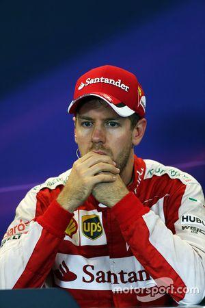 Sebastian Vettel, Ferrari, in der FIA-PK