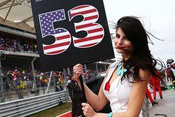 La Grid Girl d'Alexander Rossi, Manor Marussia F1 Team