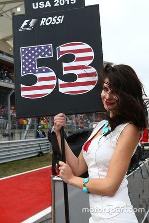 Chica de la parrilla de Alexander Rossi, Manor Marussia F1 Team