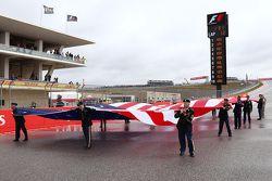 US flag on the grid