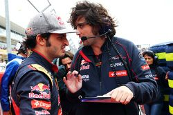 Carlos Sainz Jr., Scuderia Toro Rosso sur la grille