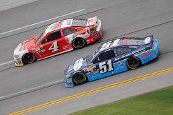 Justin Allgaier, HScott Motorsports Chevrolet and Kevin Harvick, Stewart-Haas Racing Chevrolet