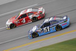 Justin Allgaier, HScott Motorsports Chevrolet and Kevin Harvick, Stewart-Haas Racing Chevrolet