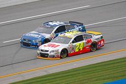 Jeff Gordon, Hendrick Motorsports Chevrolet y Jimmie Johnson, Hendrick Motorsports Chevrolet