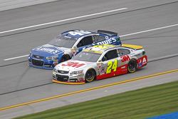 Jeff Gordon, Hendrick Motorsports Chevrolet; Jimmie Johnson, Hendrick Motorsports Chevrolet