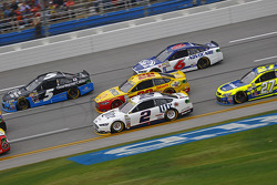 Brad Keselowski, Team Penske Ford and Joey Logano, Team Penske Ford and Kasey Kahne, Hendrick Motorsports Chevrolet and Ricky Stenhouse Jr., Roush Fenway Racing Ford and Paul Menard, Richard Childress Racing Chevrolet