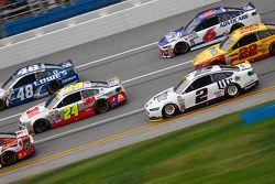 Jeff Gordon, Hendrick Motorsports Chevrolet y Jimmie Johnson, Hendrick Motorsports Chevrolet y Brad