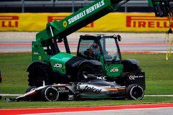 Nico Hulkenberg, Sahara Force India F1 VJM08 abandonne
