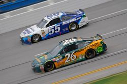 J.J. Yeley, BK Racing Toyota and David Ragan, Michael Waltrip Racing Toyota