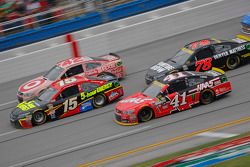 Kurt Busch, Stewart-Haas Racing Chevrolet and Clint Bower, Michael Waltrip Racing Toyota and Kyle Larson, Chip Ganassi Racing Chevrolet and Martin Truex Jr., Furniture Row Racing Chevrolet