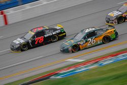 J.J. Yeley, BK Racing Toyota and Martin Truex Jr., Furniture Row Racing Chevrolet