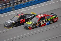 Clint Bower, Michael Waltrip Racing Toyota and Martin Truex Jr., Furniture Row Racing Chevrolet