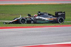 Нико Хюлькенберг, Sahara Force India F1 VJM08 сходит с гонки