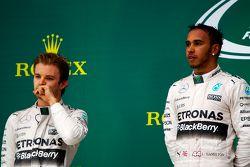 Podium: 2. Nico Rosberg, Mercedes AMG F1; 1. Lewis Hamilton, Mercedes AMG F1