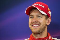 Third place Sebastian Vettel, Ferrari in the FIA Press Conference