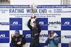 Podio Gara 2: il vincitore Giorgio Mondini, Eurointernational, il secondo classificato Walter Margel