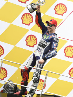 Podio: secondo Jorge Lorenzo, Yamaha Factory Racing
