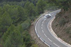 Sébastien Ogier y Julien Ingrassia, Volkswagen Polo WRC, Volkswagen Motorsport, choca y sale de la c