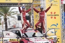 Les Champions WRC2 Nasser Al-Attiyah et Matthieu Baumel, Skoda Fabia R5